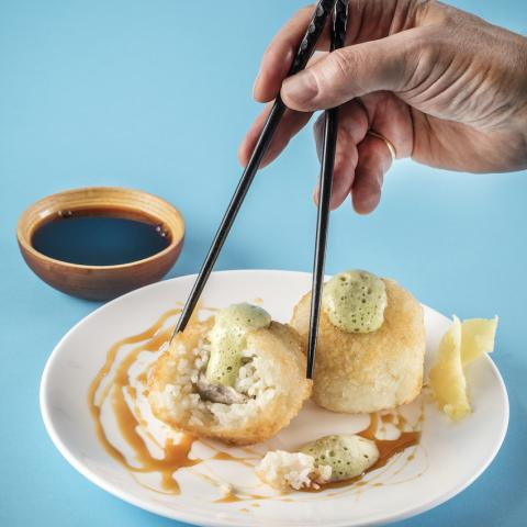 Dumplings and Chopsticks Image by Barney Taxel