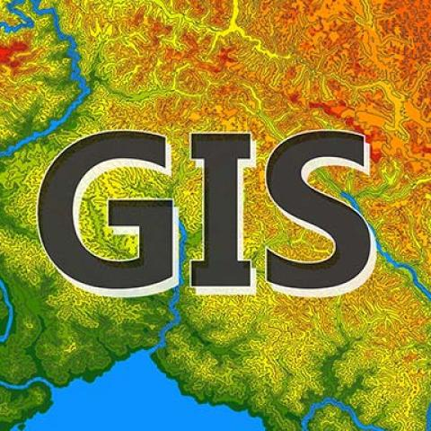 Map with GIS text