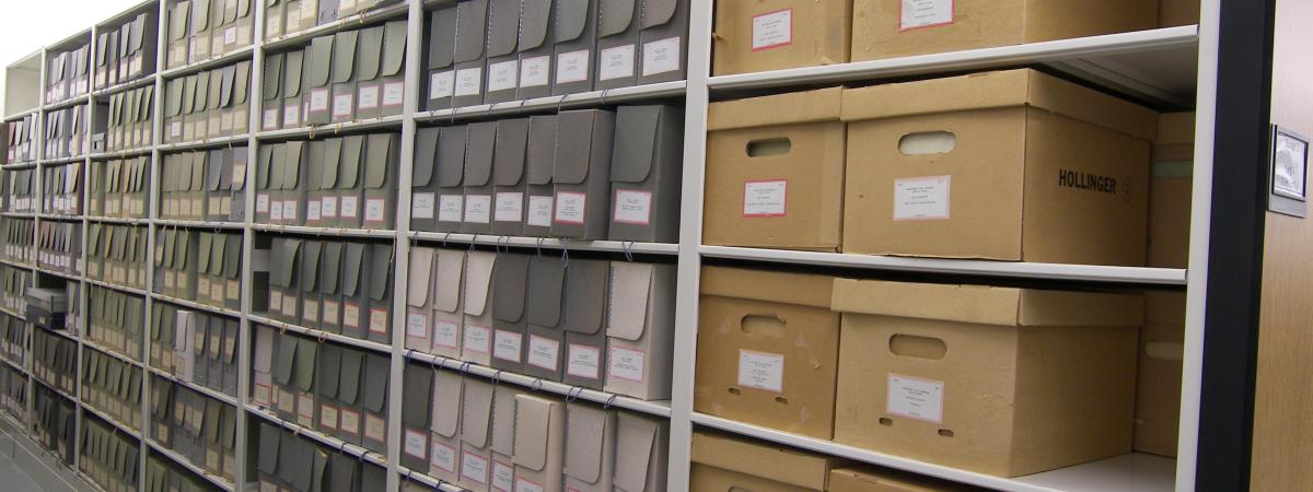 University Archives Shelves