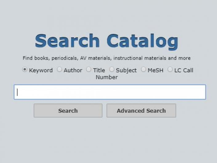 image of catalog search box