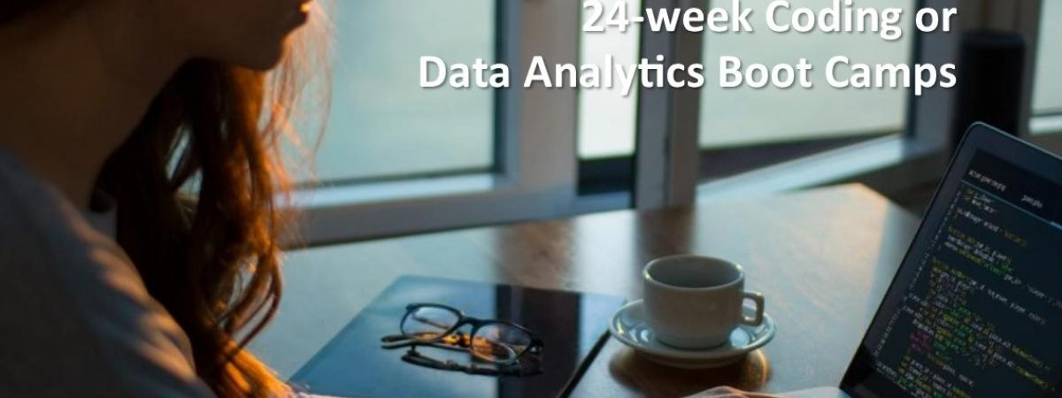24-week Coding or  Data Analytics Boot Camps