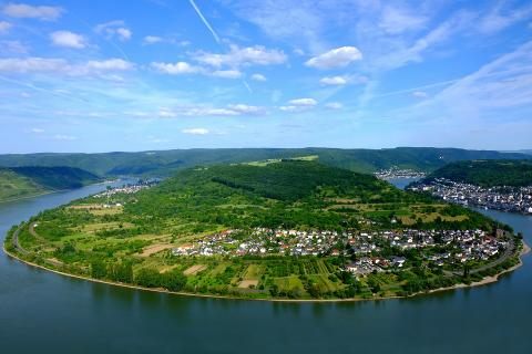 rhine valley and river