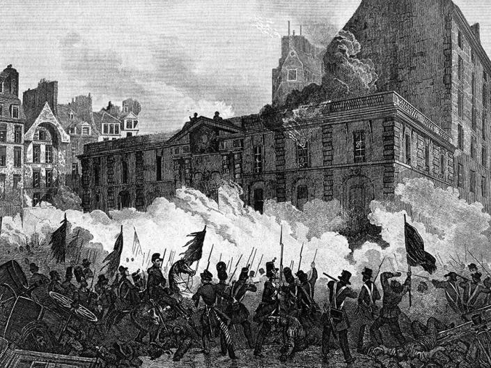 Attack of the royal palace during the french revolution