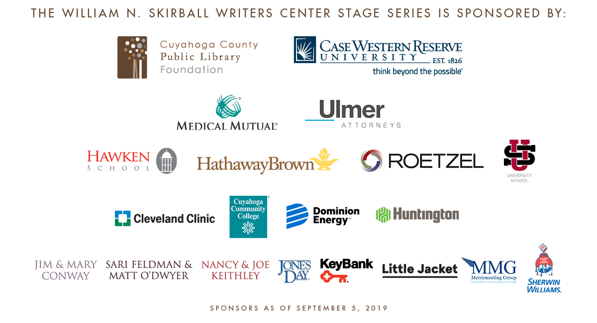 2019-2020 Writers Center Stage Sponsors