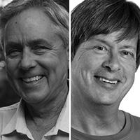 Carl Hiaasen & Dave Barry headshots