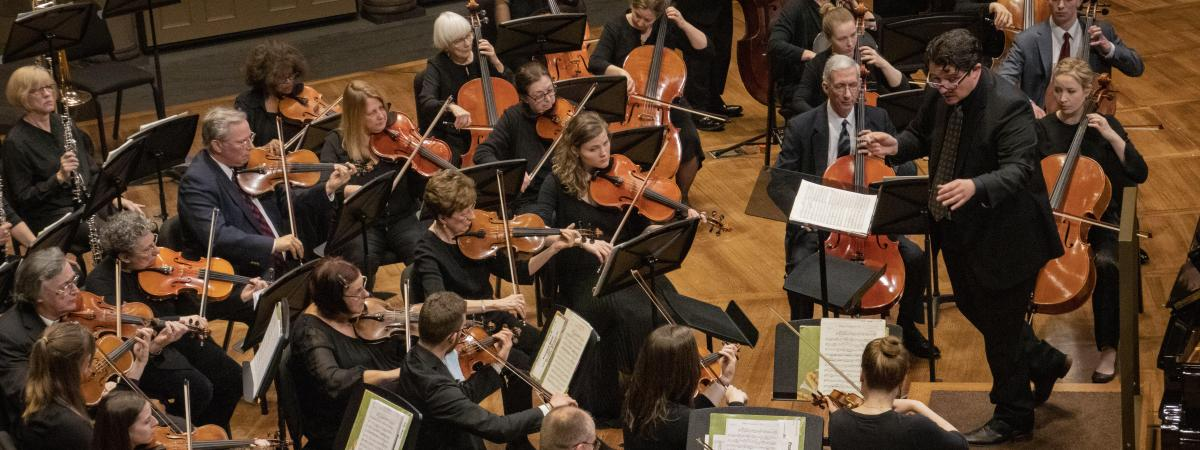 THe Suburban Symphony Orchestra plays on the Maltz Center stage