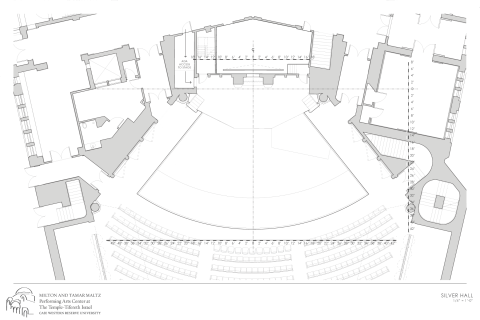 rendering of silver hall ground plan