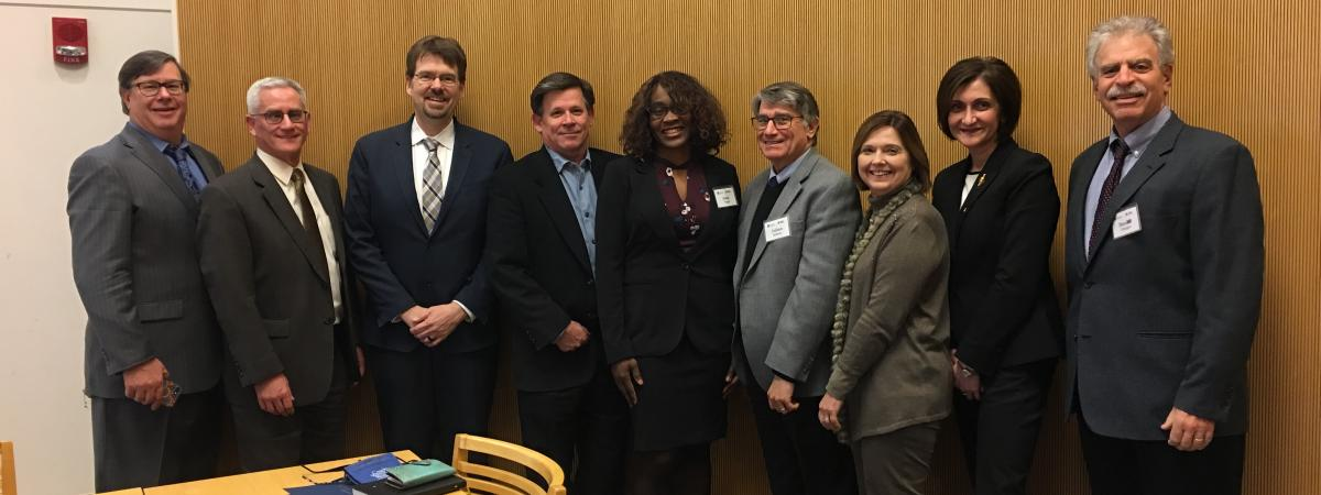 CTSC Executive Leadership with External Advisory Committee at the December 6, 2018 meeting.