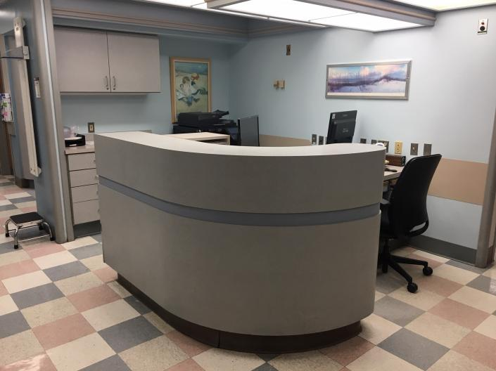 The front desk at MetroHealth Clinical Research Unit