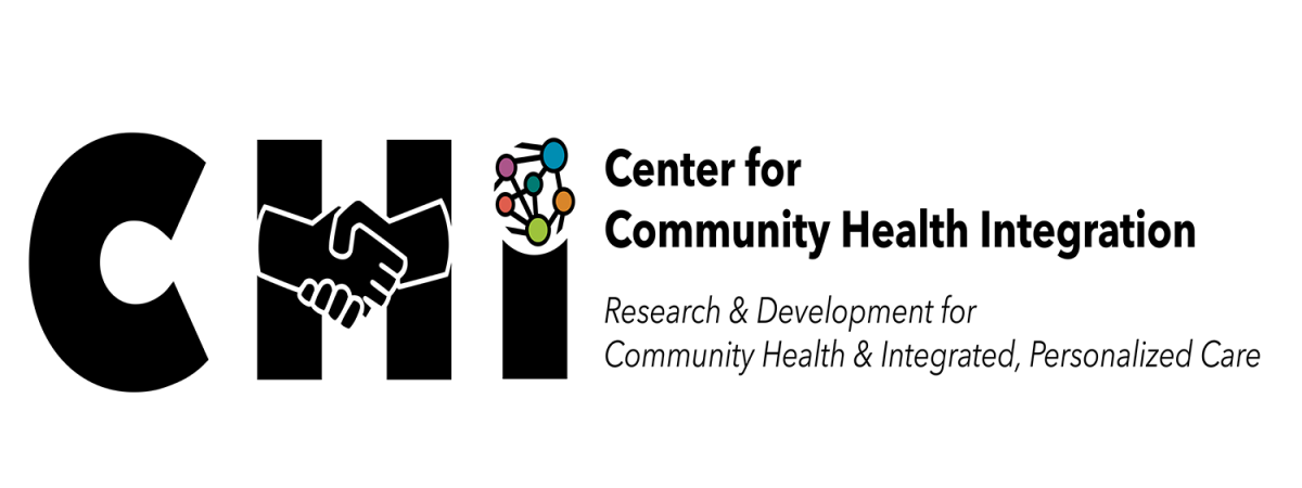 Center for Health Integration logo, using handshake in the H, other text