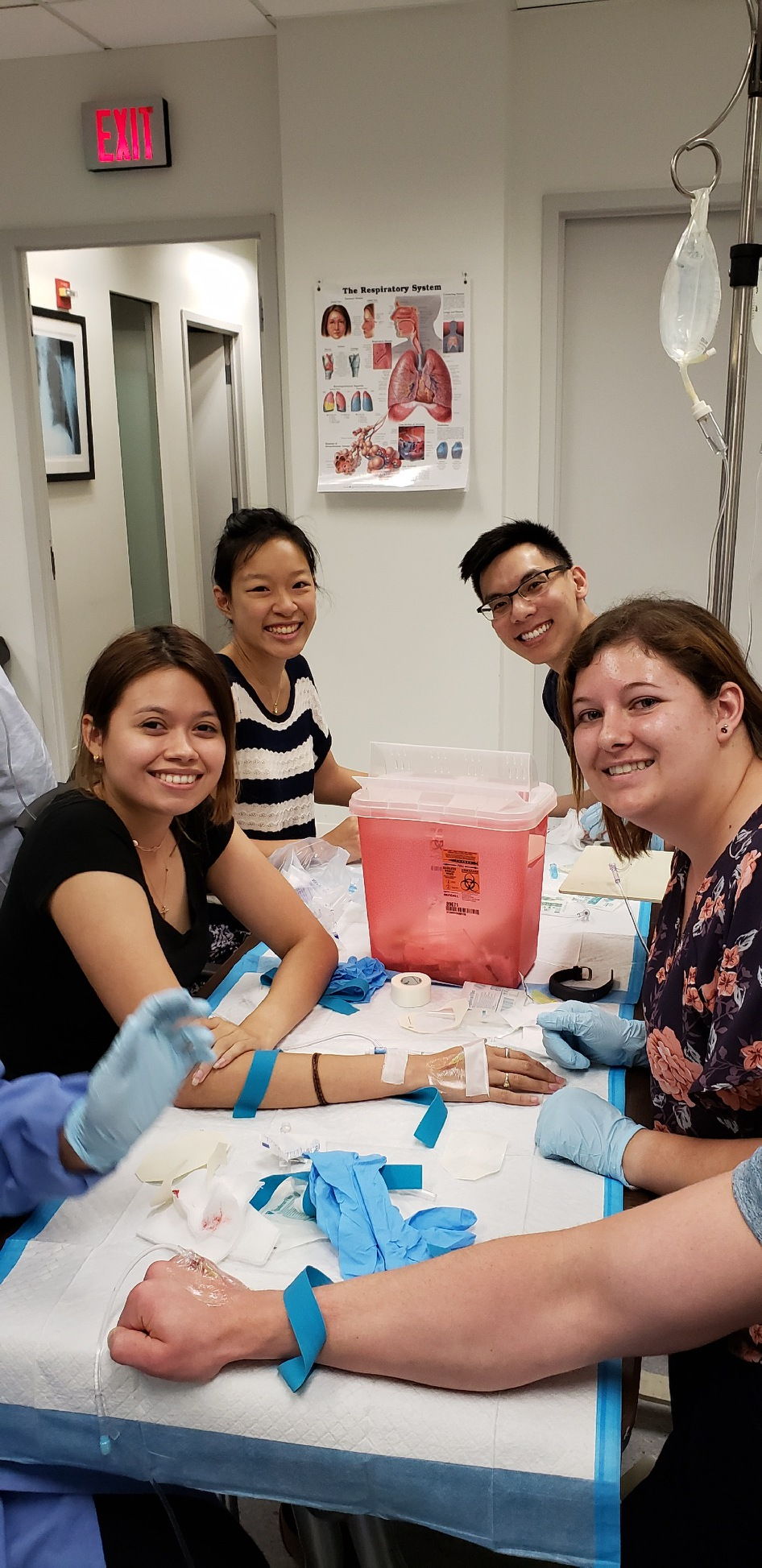 Four CWRU MSA students smiling at the camera during Live IV Day in Washington, DC