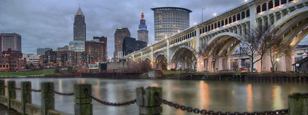 Cleveland Skyline View from River