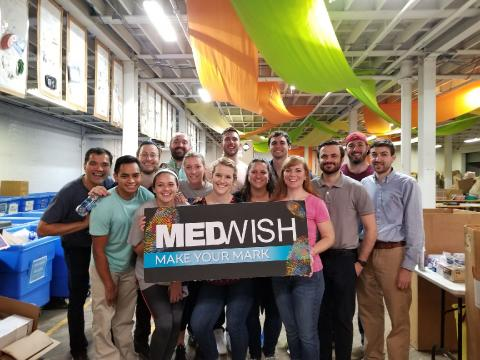 Cleveland students with MedWish sign