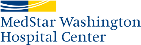 MedStar Washington Hospital Center logo with navy and yellow rectangle design