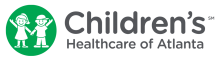 Children's Healthcare of Atlanta logo with cartoon children in green circle