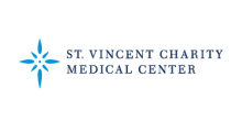 Saint Vincent Charity Medical Center logo with blue star design