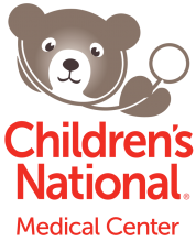 Children's National Medical Center logo with brown bear design