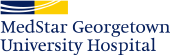 MedStar Georgetown University Hospital logo with navy and yellow rectangle design