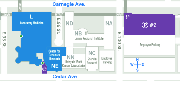 Map of the Lerner Research Institute