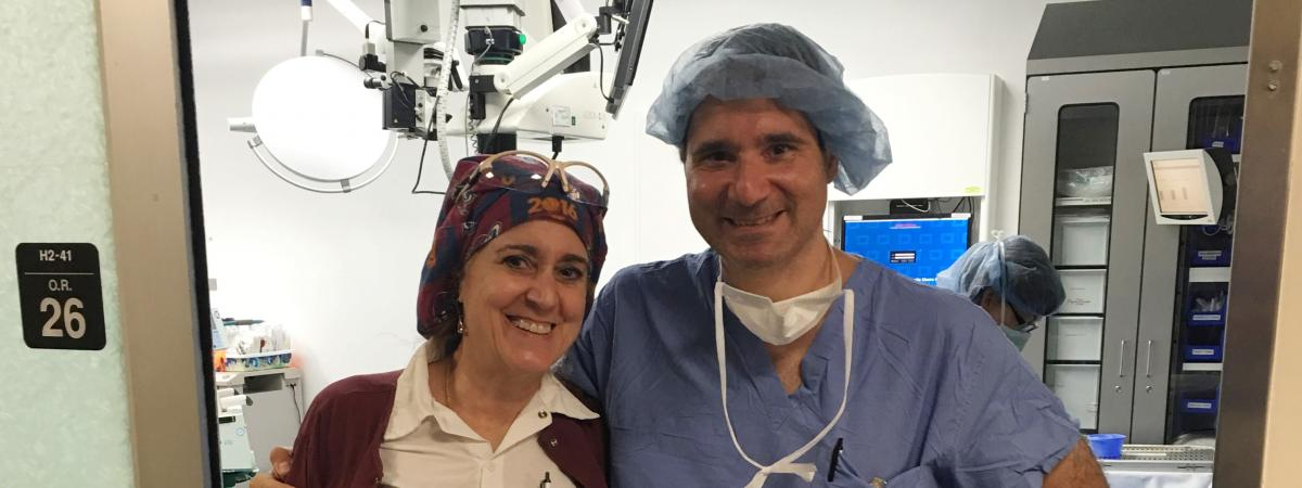 Image of two physicians outside of an operating room