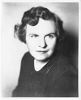 A black and white portrait of Helen Hunscher, program founder