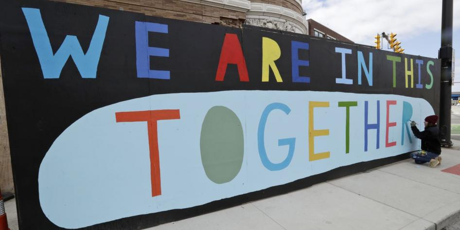 Cleveland mural - We are in this Together