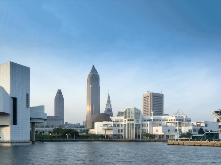 View of downtown Cleveland from the lake