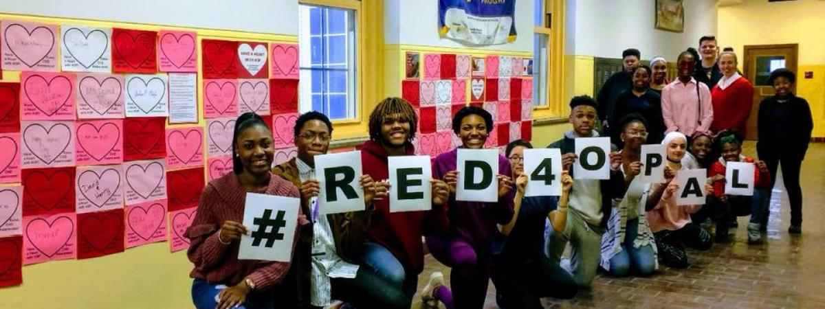 H3P Club CSSM Students showing Red4Opal Hashtag Fundraiser Banner
