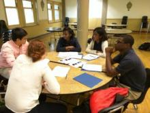 Case Western Reserve University medical students guide CSSM seniors through the process of writing their college essays.