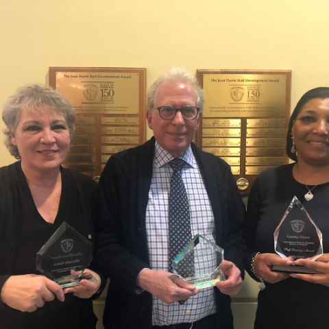 School of Medicine Staff Award winners