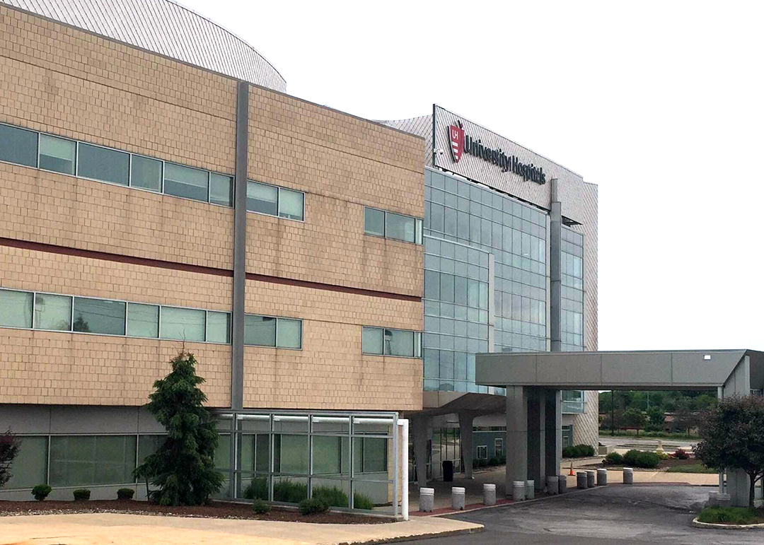 Exterior of UH Cleveland Medical Center building
