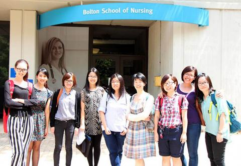 Picture of exchange students.