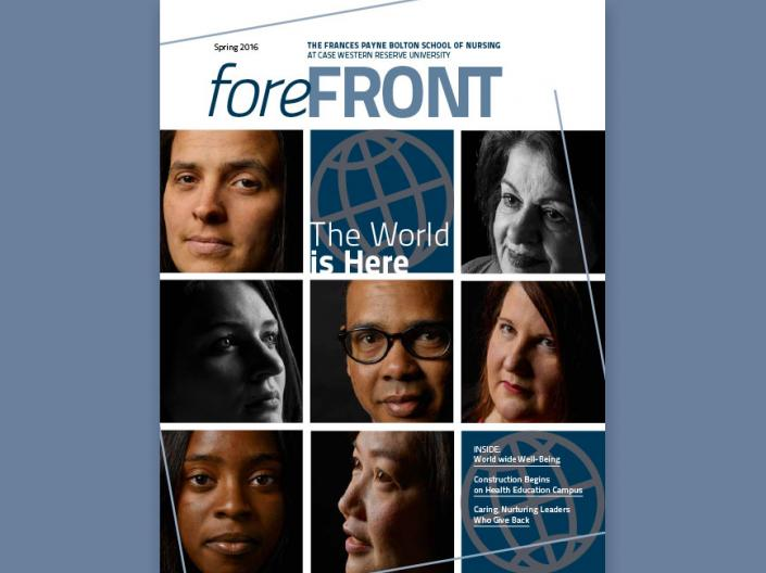 A collage of nurses for the cover of foreFRONT magazine