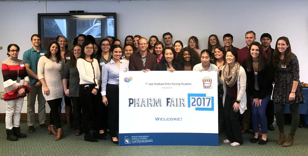 Group photo of participants at the FPB CWRU Pharm Fair