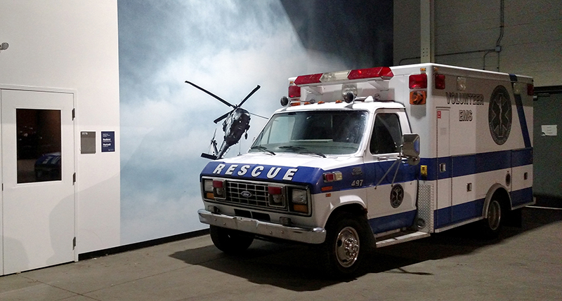 Picture of an ambulance.