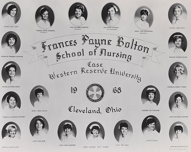 Picture collage of the FPB class of 1968.