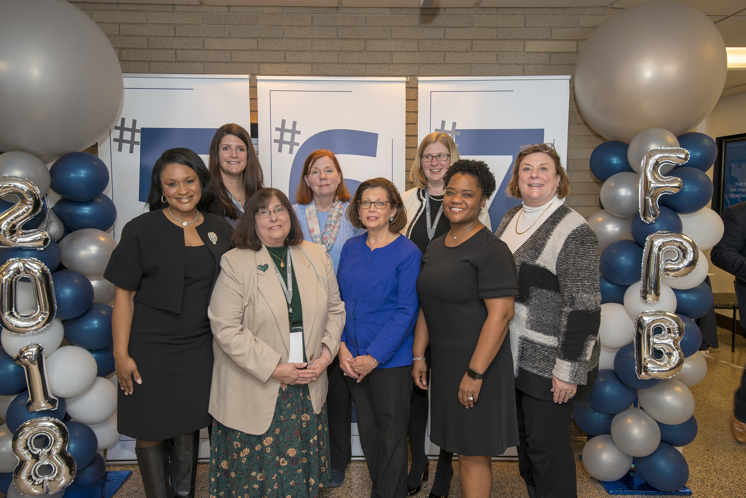 Group photo of the 2019 Alumni Association Executive Board at the Frances Payne Bolton School of Nursing at Case Western Reserve University in Cleveland, Ohio, one of the best nursing schools in the United States.