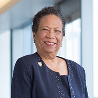 Headshot of Linda Burnes Bolton, advisory board member for the Marian K. Shaughnessy Nurse Leadership Academy at the Frances Payne Bolton School of Nursing at Case Western Reserve University in Cleveland, Ohio.