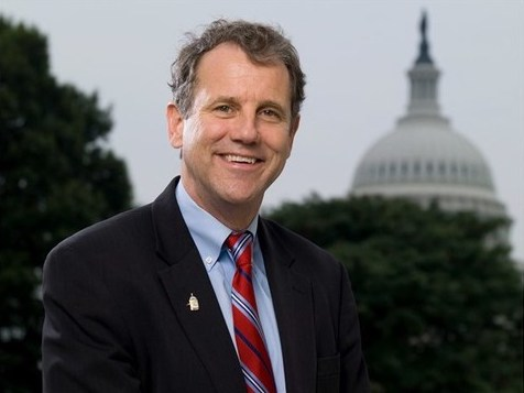 Photo of U.S. Senator Sherrod Brown (D-OH) with the U.S. Capitol Building in the background.