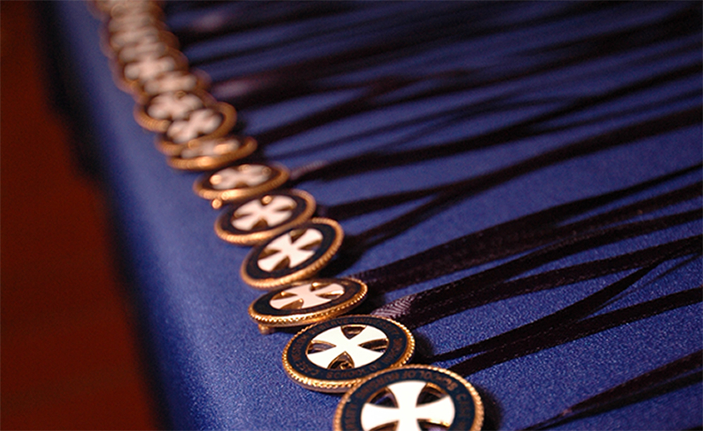 Line of FPB nursing pins.