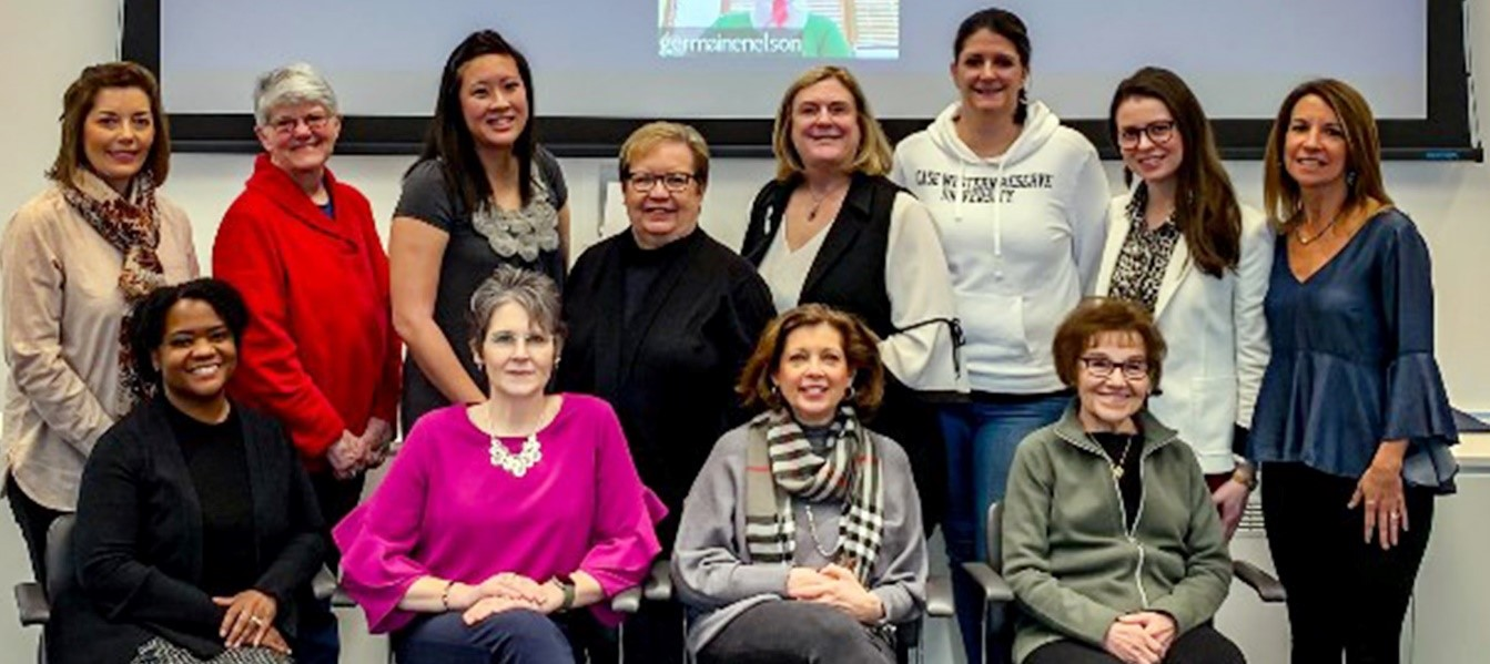 Members of the Frances Payne Bolton School of Nursing Alumni Association Board of Directors.