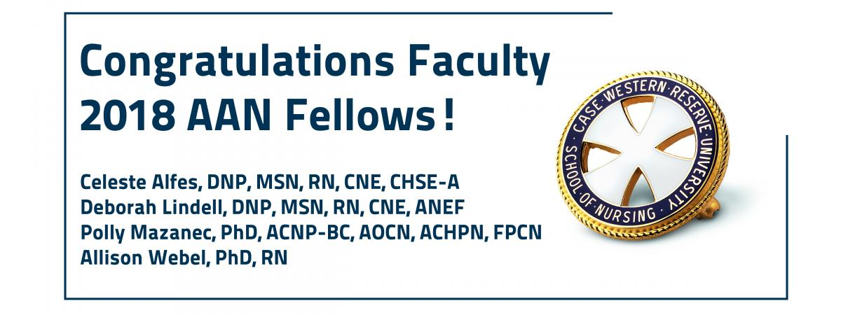 List of faculty members inducted in the 2018 FAAN class.