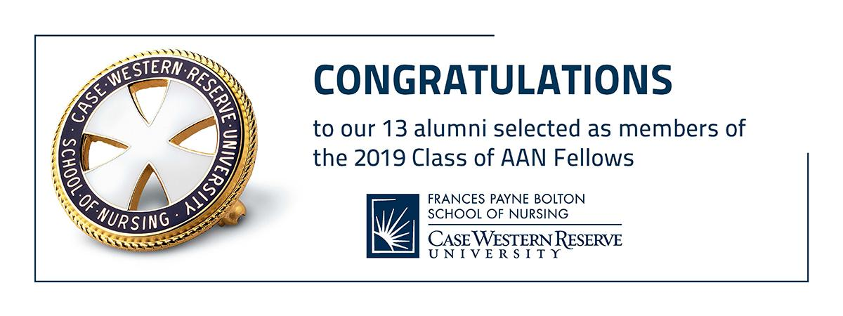 Congratulations message to the 13 alumni who are members of the 2019 Class of AAN Fellows.