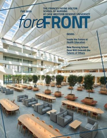 Image of the front cover of the Fall 2019 issue of Forefront Magazine.