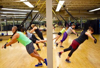 TRX class at 121 Fitness at Case Western Reserve University