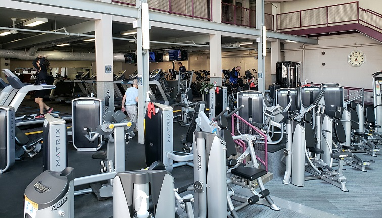 Machine weight exercise equipment