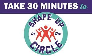 Shape Up in the Circle Logo