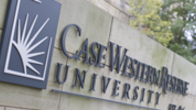 Case Western Reserve University Outdoor Sign