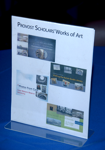 A flyer that says Provost Scholars' Works of Art