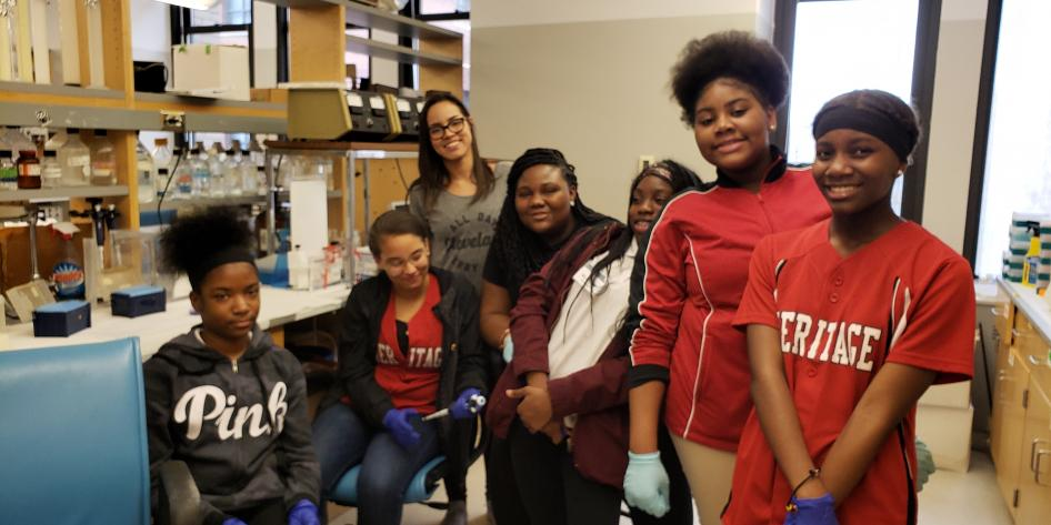 The Provost Scholars visit a lab